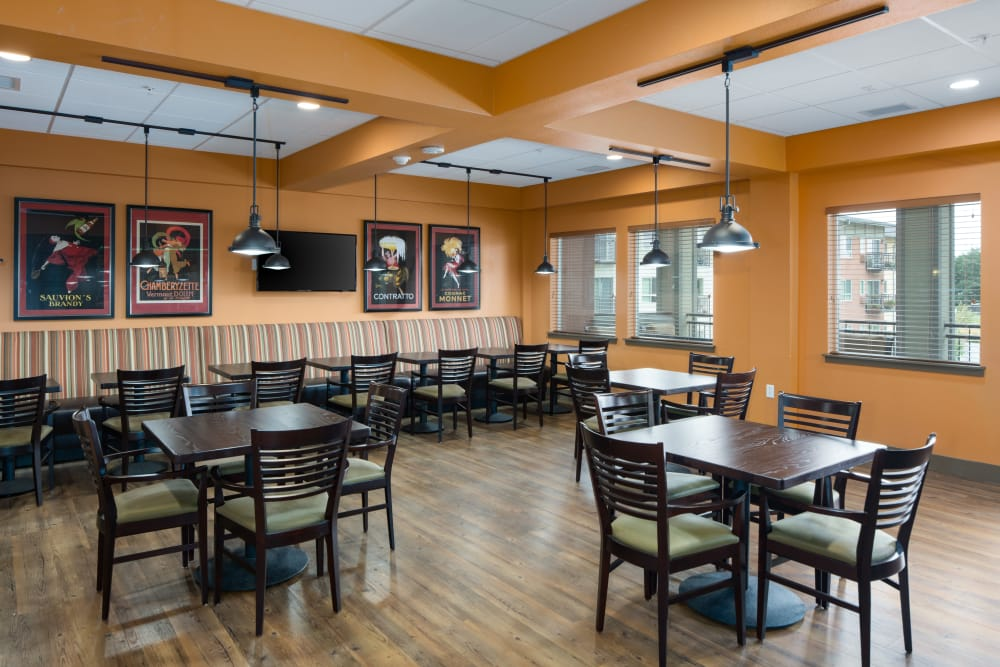 Affinity at Fort Collins dining room for residents