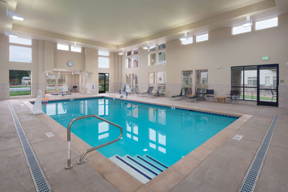 Indoor pool at Affinity at Fort Collins