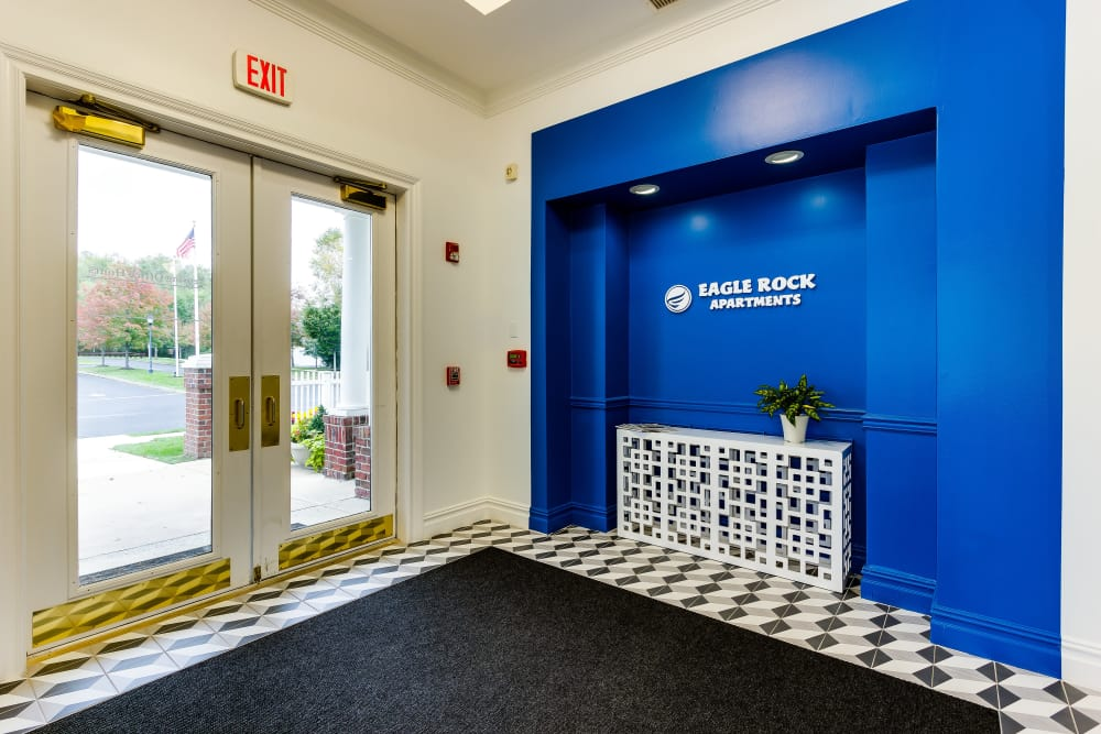 back exit at Eagle Rock Apartments at Freehold