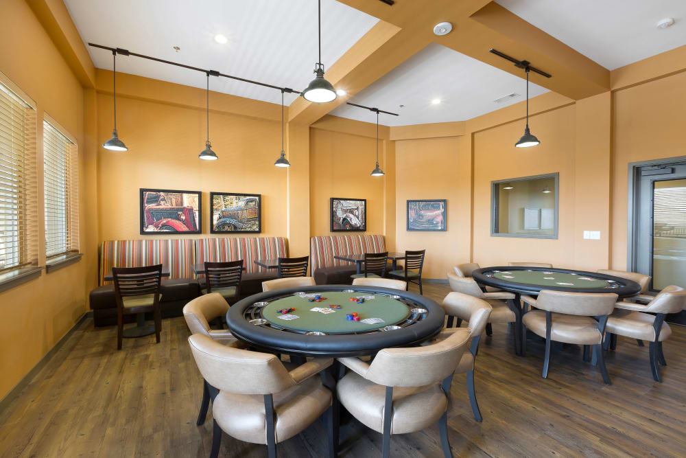 Poker tables at Affinity at Eagan