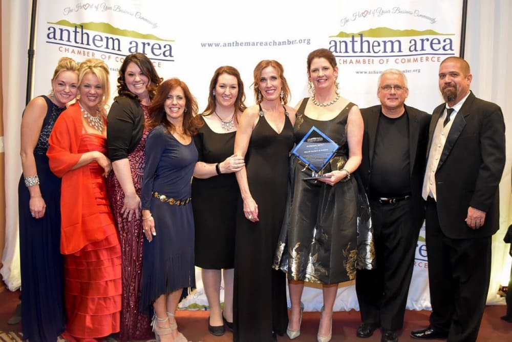 Anthem team receiving an award for our senior living community