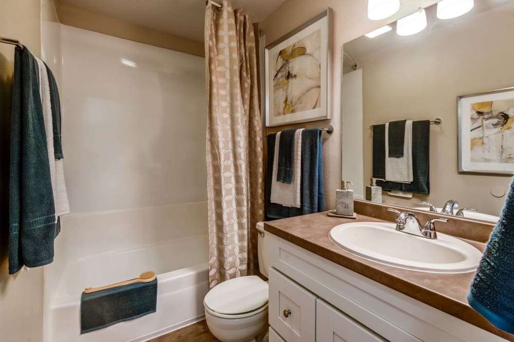 Renovated bathroom at Vue Oceanside in Oceanside