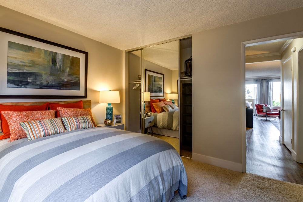 Our apartments in Oceanside, California showcase a spacious bedroom
