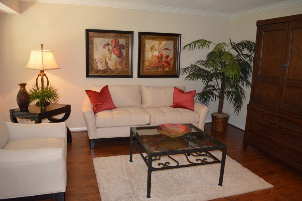 Living room option at The Abbey at Briargrove Park in Houston