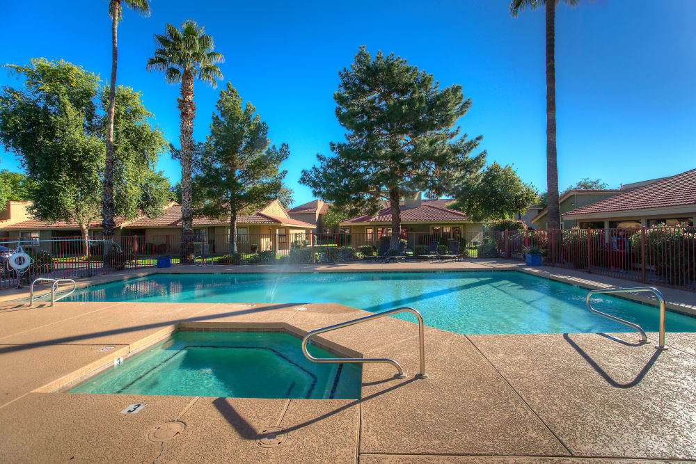 Argenta Apartment Homes offers a refreshing pool in Mesa