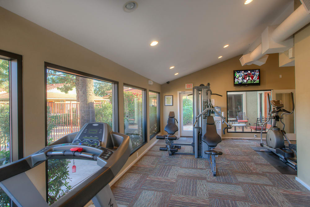 Stay healthy in our fitness center in Mesa, Arizona