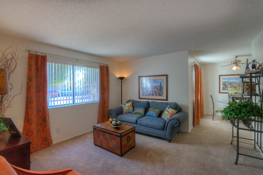 Spacious living room at Argenta Apartment Homes