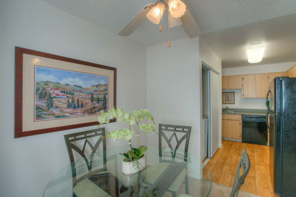 Dining area at Argenta Apartment Homes