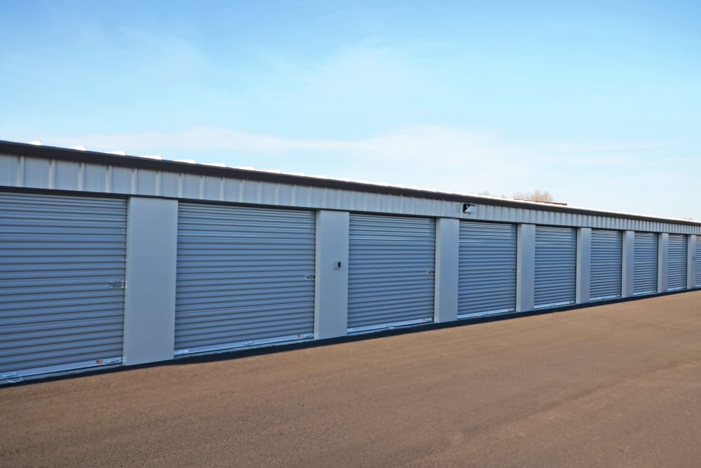 Exterior storage units at Oregon RV & Storage in Hubbard, Oregon