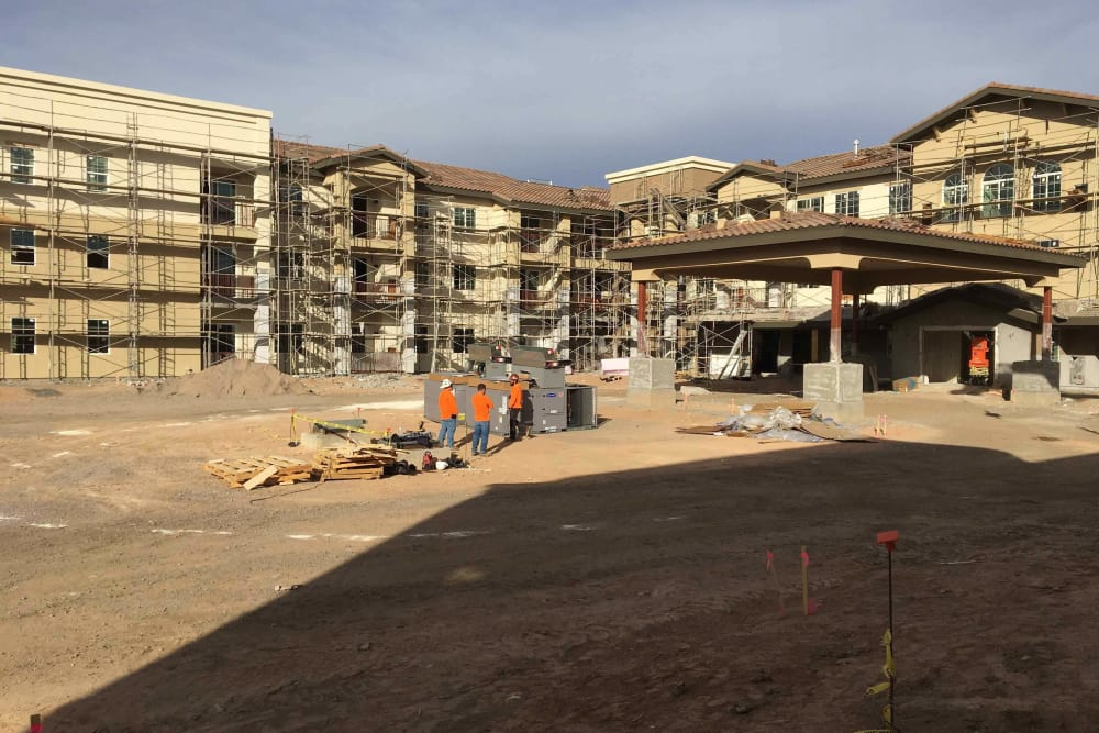 Construction in progress at The Enclave at Chandler Senior Living
