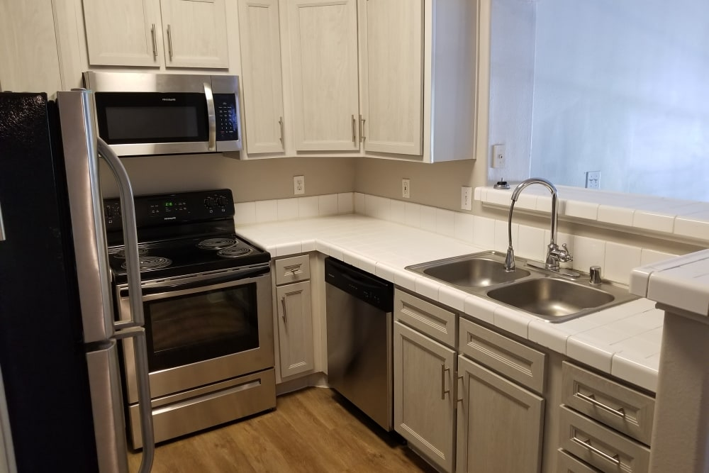 Nice clean kitchen in our Humble, TX apartments