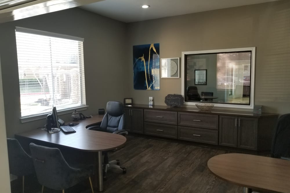 Humble apartments includes a office