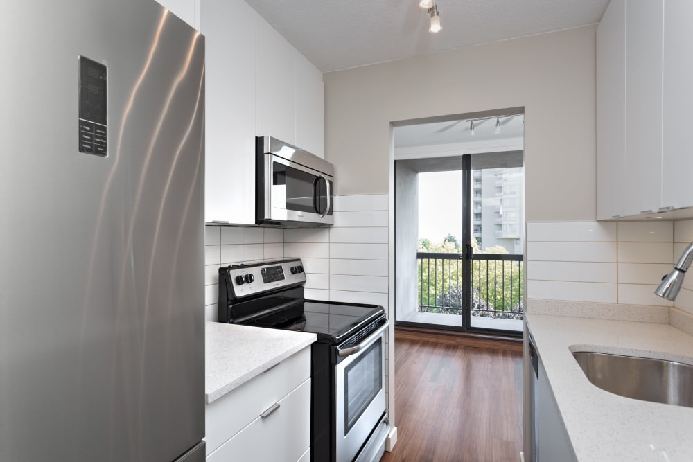 Our apartments in Burnaby, British Columbia showcase a luxury kitchen