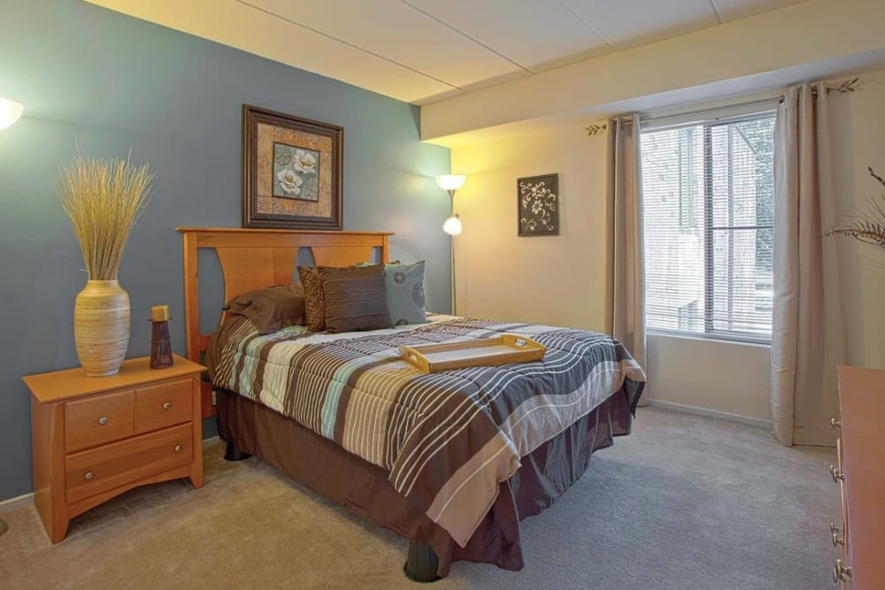 Large master bedroom at Parkway Apartments in Williamsburg