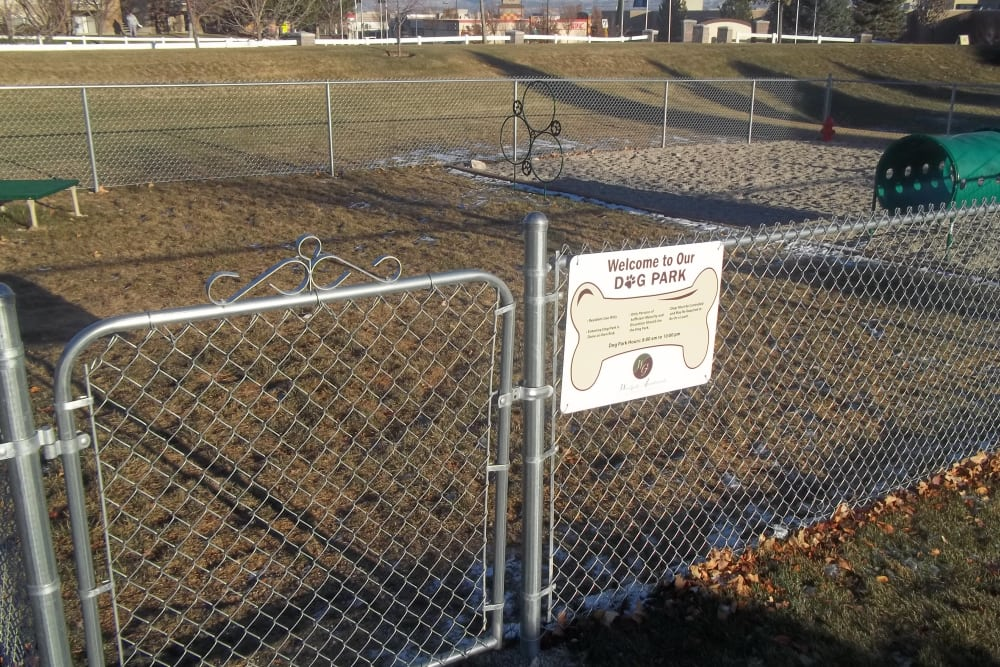 Dog park at Woodgate Apartments