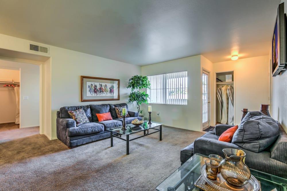 Spacious living room at Portofino Villas Apartments