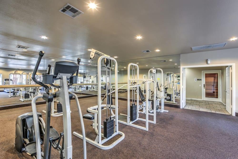 Fitness center at Portofino Villas Apartments