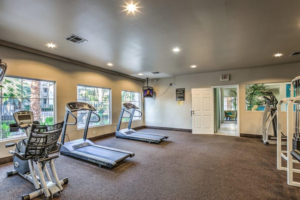 Exercise equipment at Portofino Villas Apartments