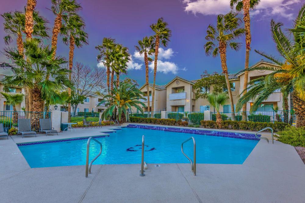 Sparkling swimming pool at Portofino Villas Apartments