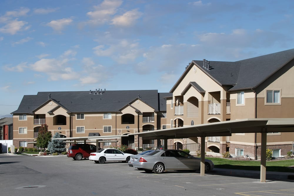 Parking at apartments at Ridgeview Apartments