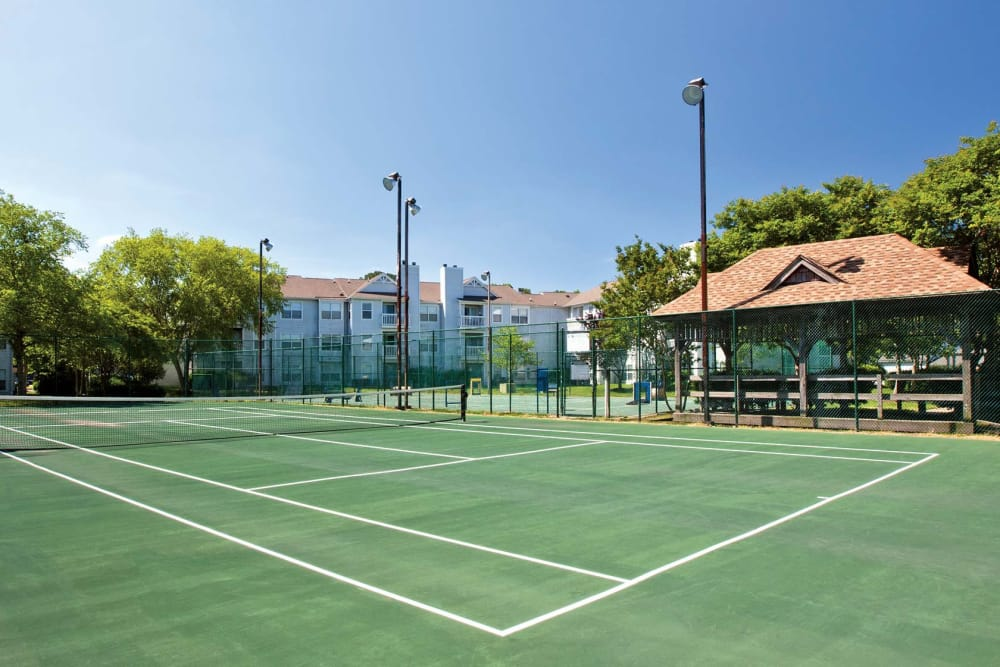 Tennis court at Reflections at Virginia Beach in Virginia Beach