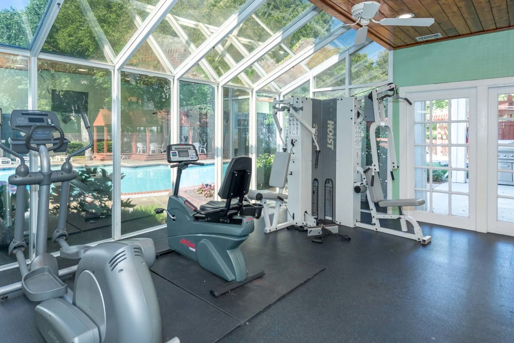 The fitness center at Reflections at Virginia Beach