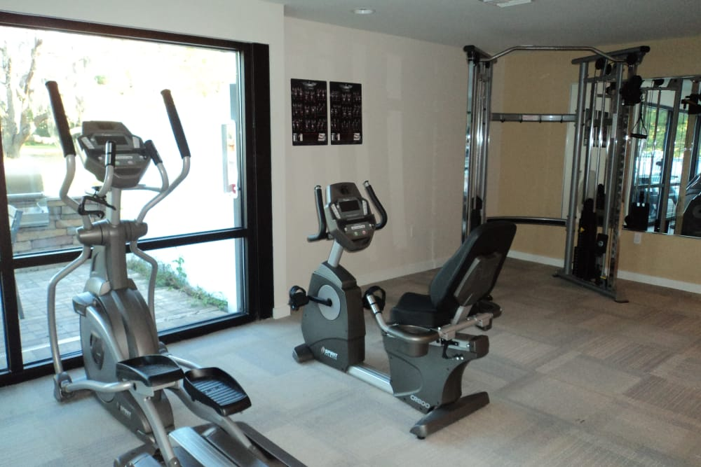 Beautiful fitness center at Promenade at Edgewater in Dunedin, Florida