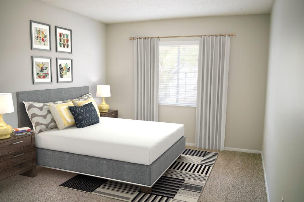 Spacious bedroom at Promenade at Edgewater in Dunedin, Florida