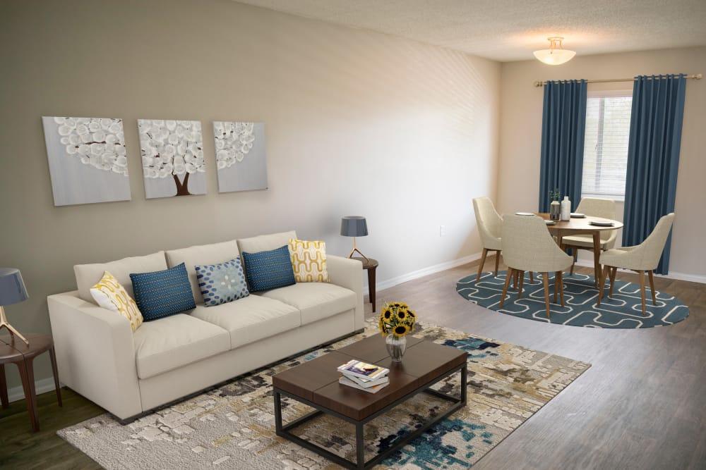 Beautiful living room at apartments in Dunedin, FL