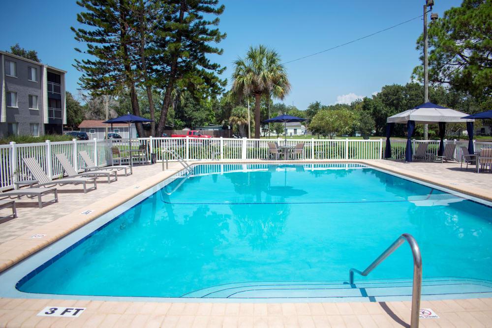 Swimming pool at apartments in Dunedin, Florida
