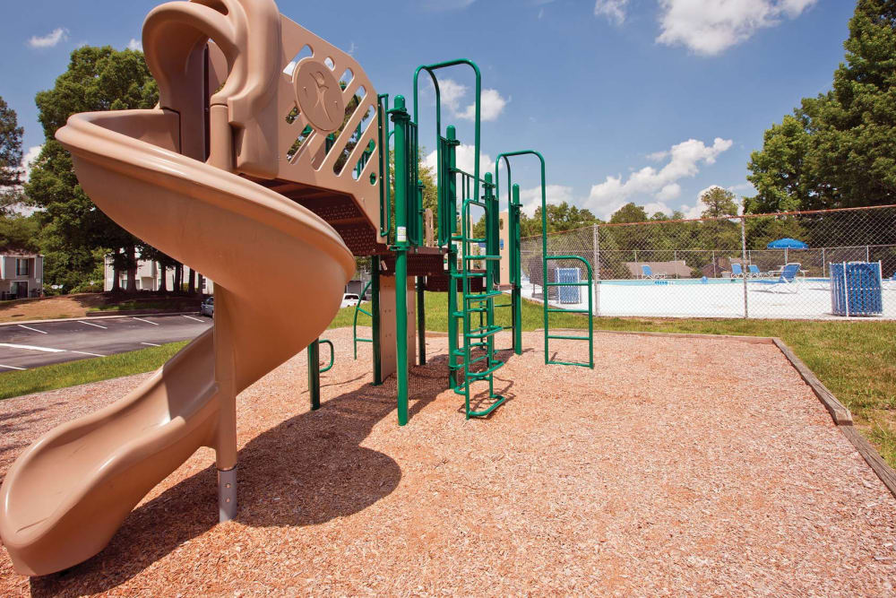On-site playground at Woods of Williamsburg Apartments