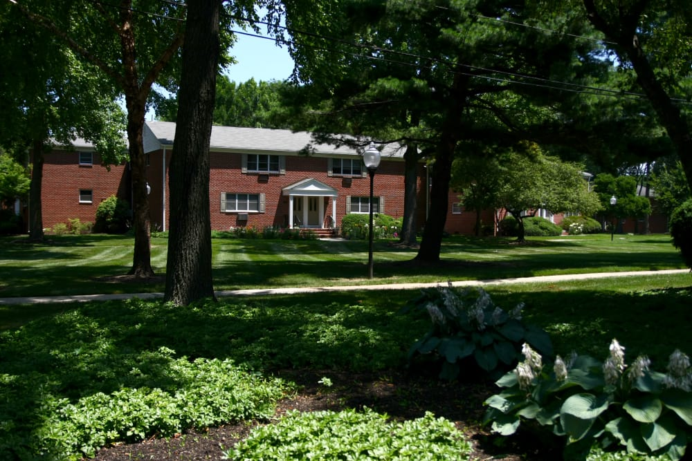 Our outdoor green spaces are immaculate at Wingate Apartments in Hamilton