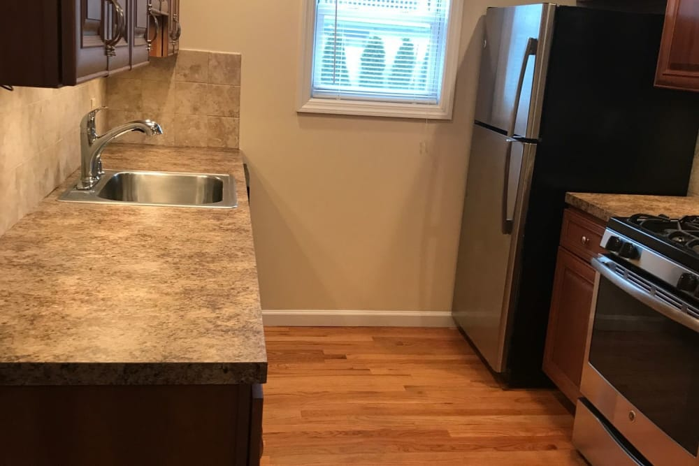 Spacious counter tops at model kitchen at The Heights at Spring Lake in Spring Lake, New Jersey