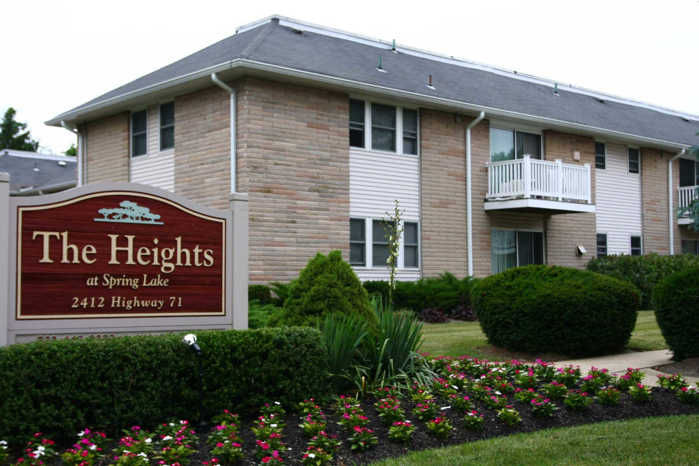 Welcome sign for The Heights at Spring Lake in Spring Lake, New Jersey