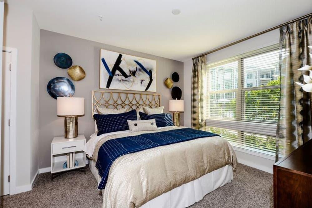 Model bedroom at Alta at Jonquil in Smyrna