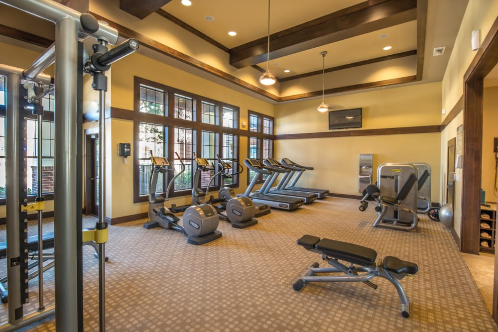 Fully equipped fitness center at Terrawood
