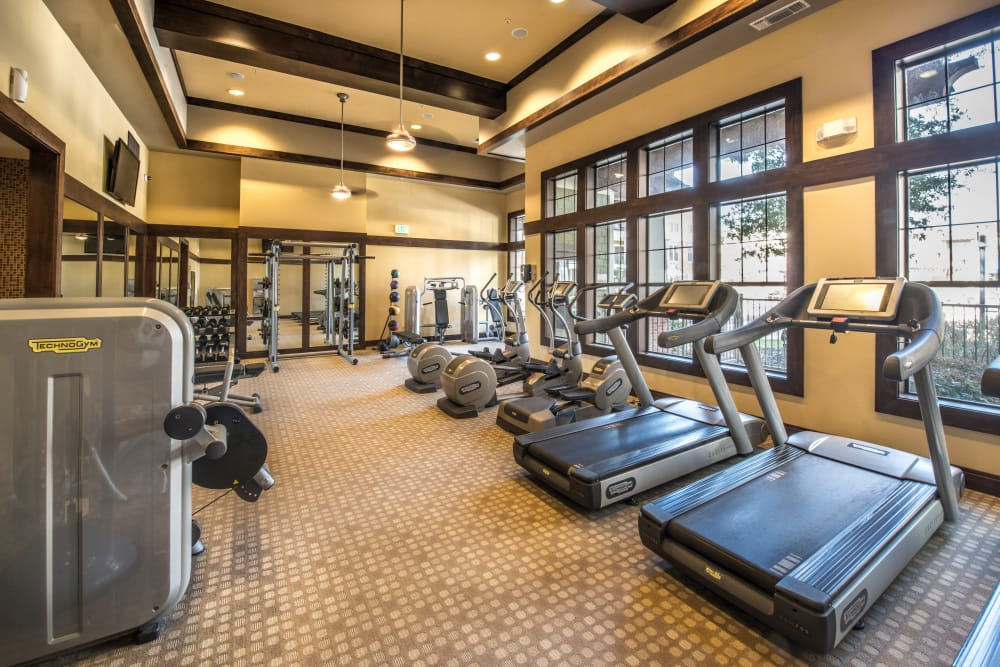 Terrawood onsite gym with cardio equipment