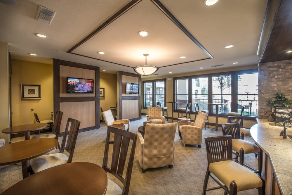 Large resident lounge at Terrawood