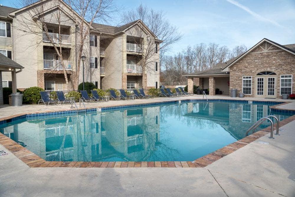Pool view at The Enclave at Deep River in Greensboro, North Carolina