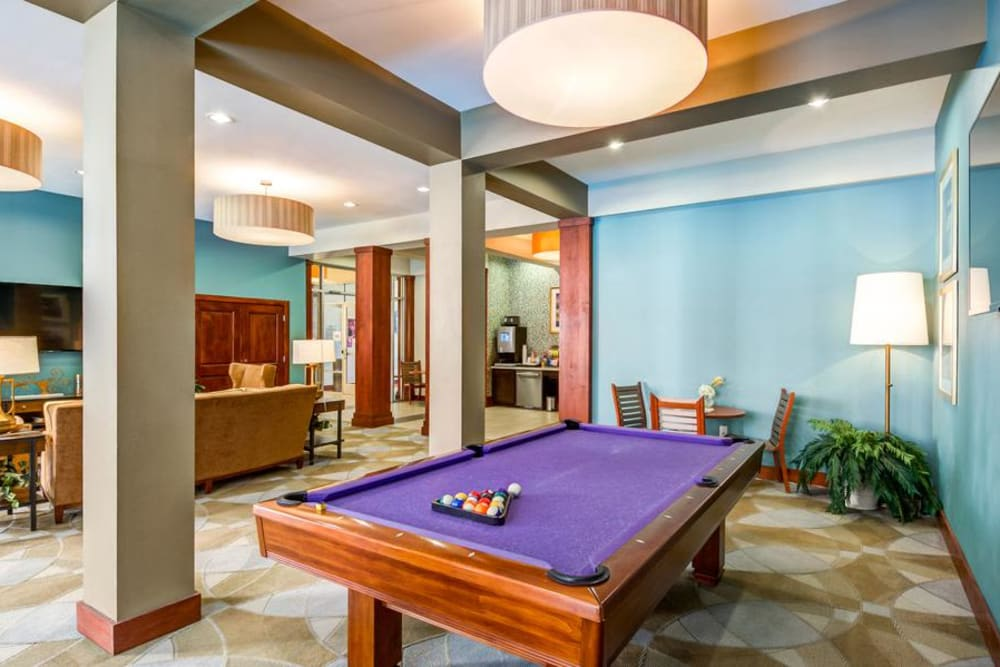 Pool Table in the Clubhouse at 4000 Hulen Urban Apartment Homes in Fort Worth, Texas