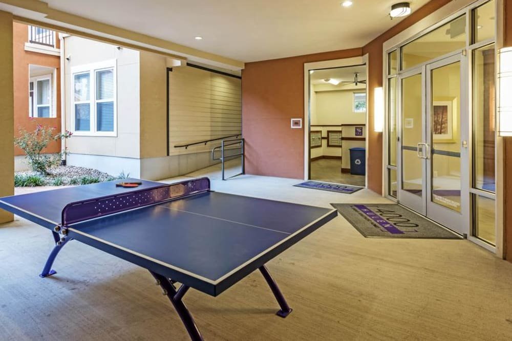 Ping Pong Table in the Clubhouse at 4000 Hulen Urban Apartment Homes in Fort Worth, Texas