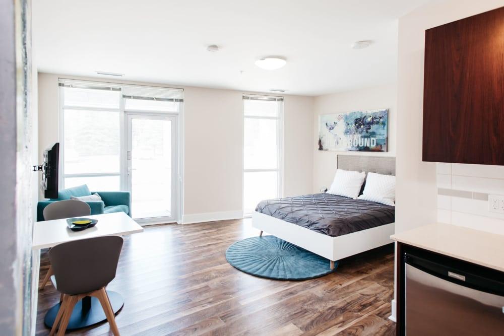 Unique bedroom at Elata in Calgary, Alberta