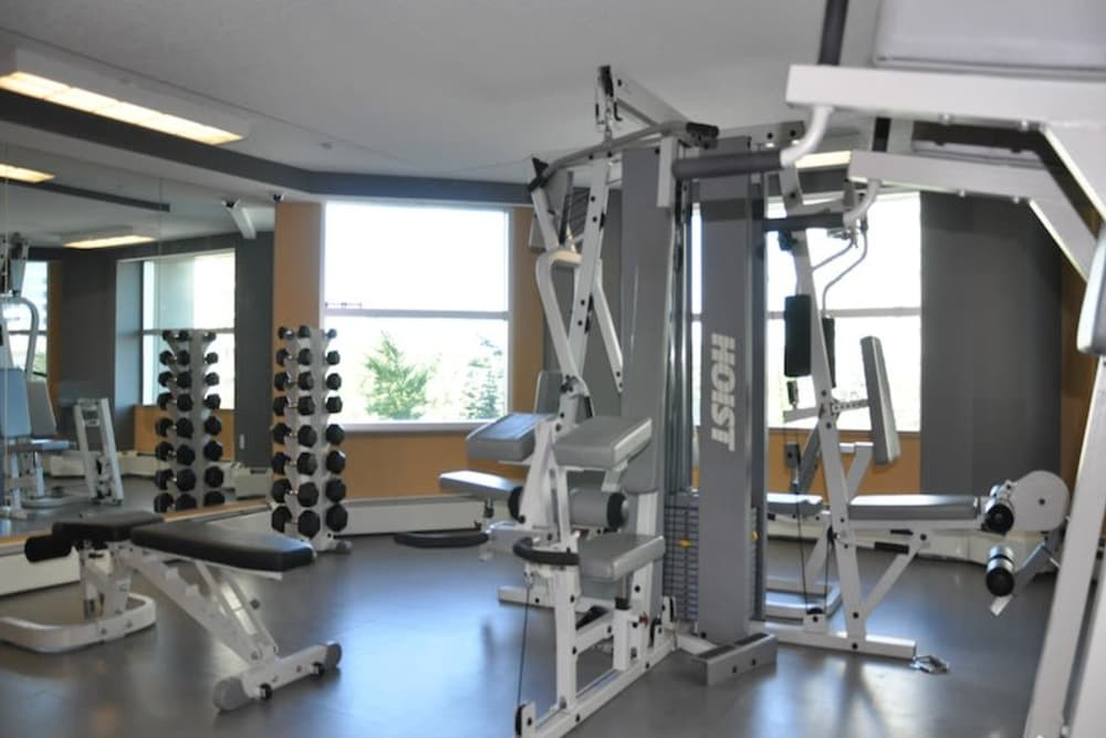 Modern fitness center at Discovery Pointe in Calgary, Alberta