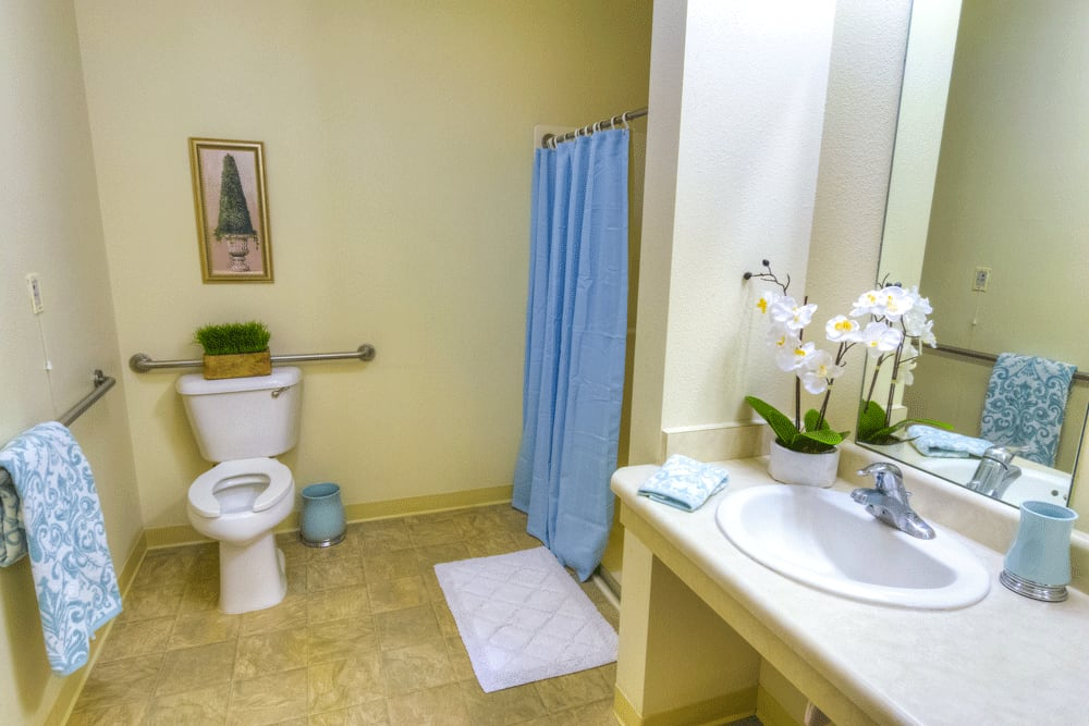 Private bathroom at The Meadows - Assisted Living