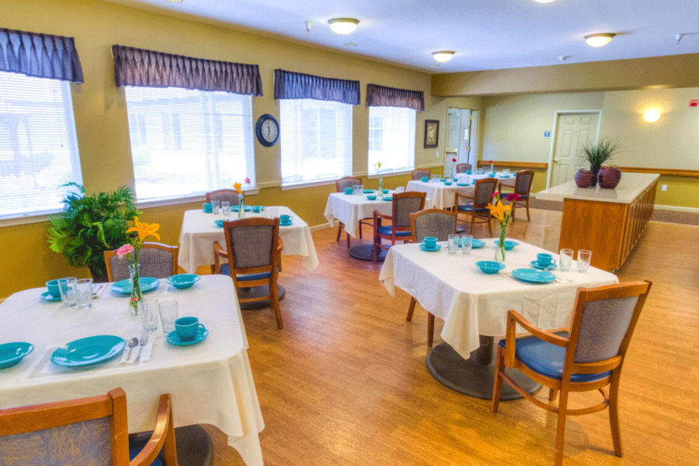 Enjoy a chef-prepared meal at The Meadows - Assisted Living
