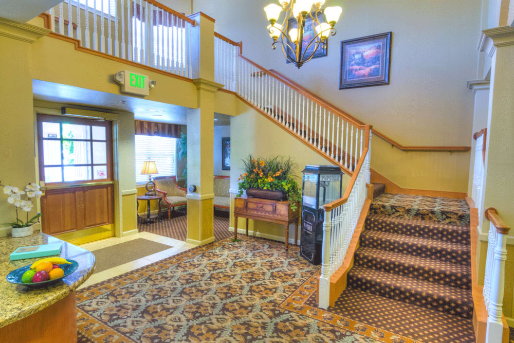 Lobby of The Meadows - Assisted Living