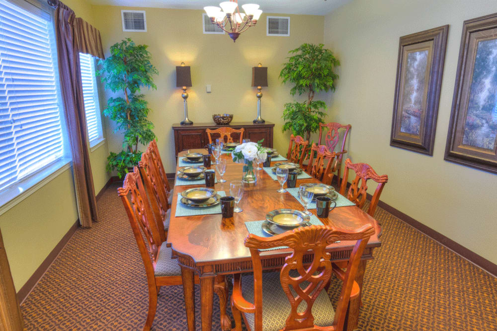 Private dining room at The Meadows - Assisted Living
