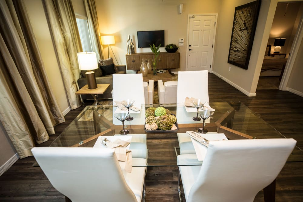 Dining area at Avenue 25 Apartments