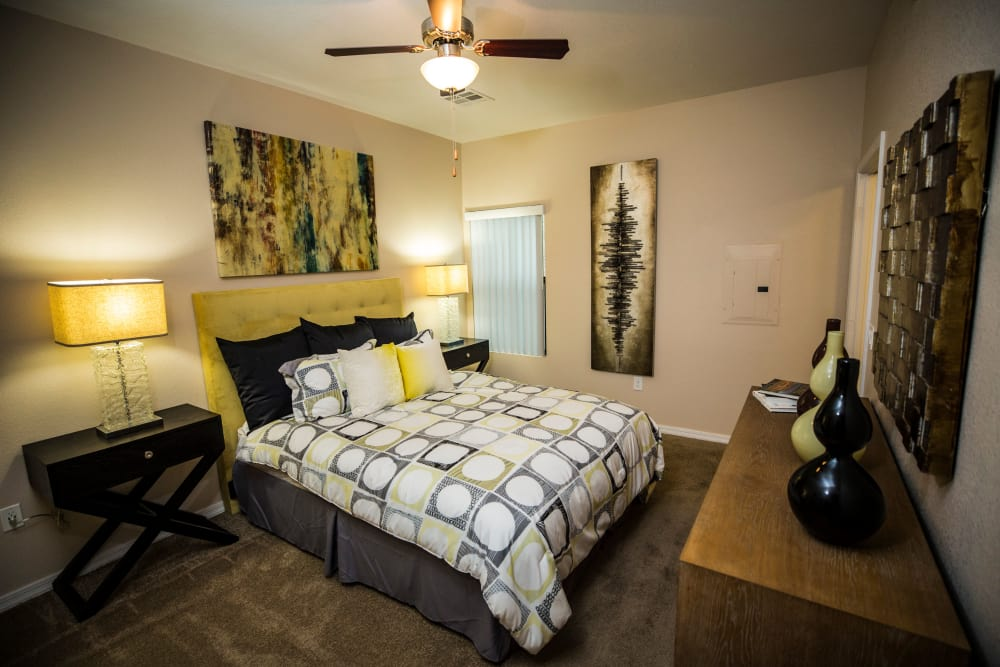 Beautiful bedroom at Avenue 25 Apartments