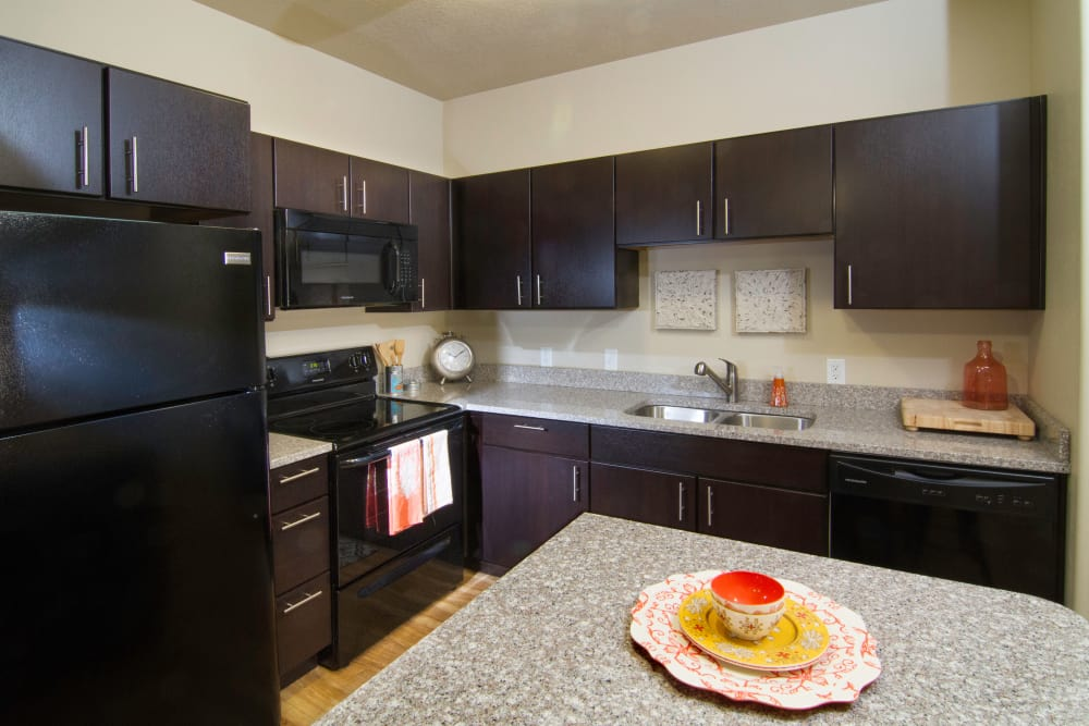 Fully equipped kitchen at 644 City Station in Salt Lake City, Utah